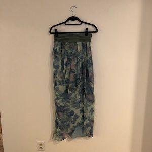 Carlos Miele Blue Silk Maxi Skirt